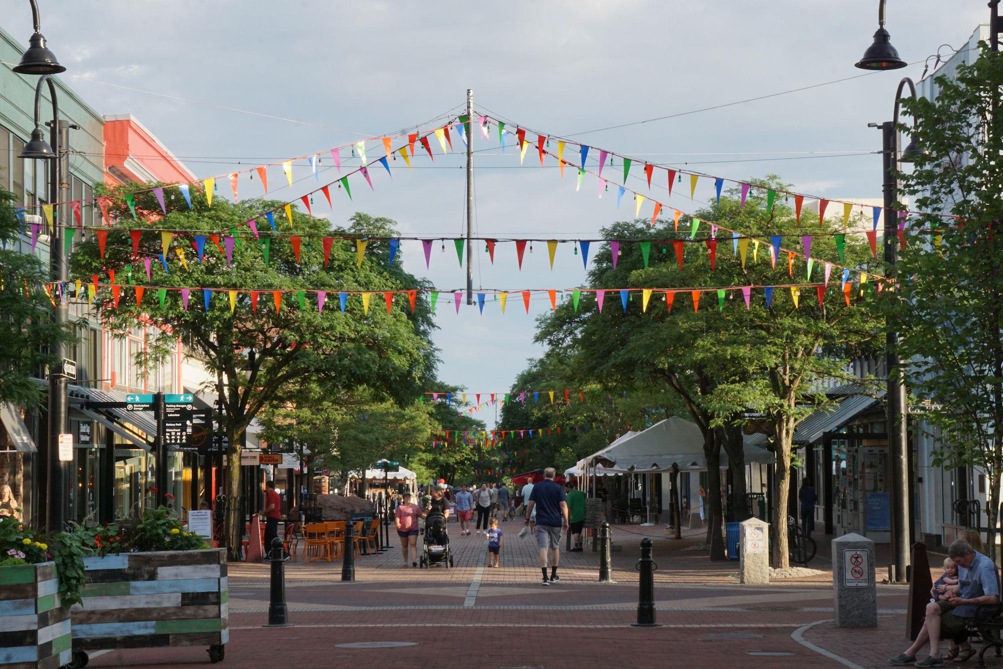 Church Street in downtown Burlington