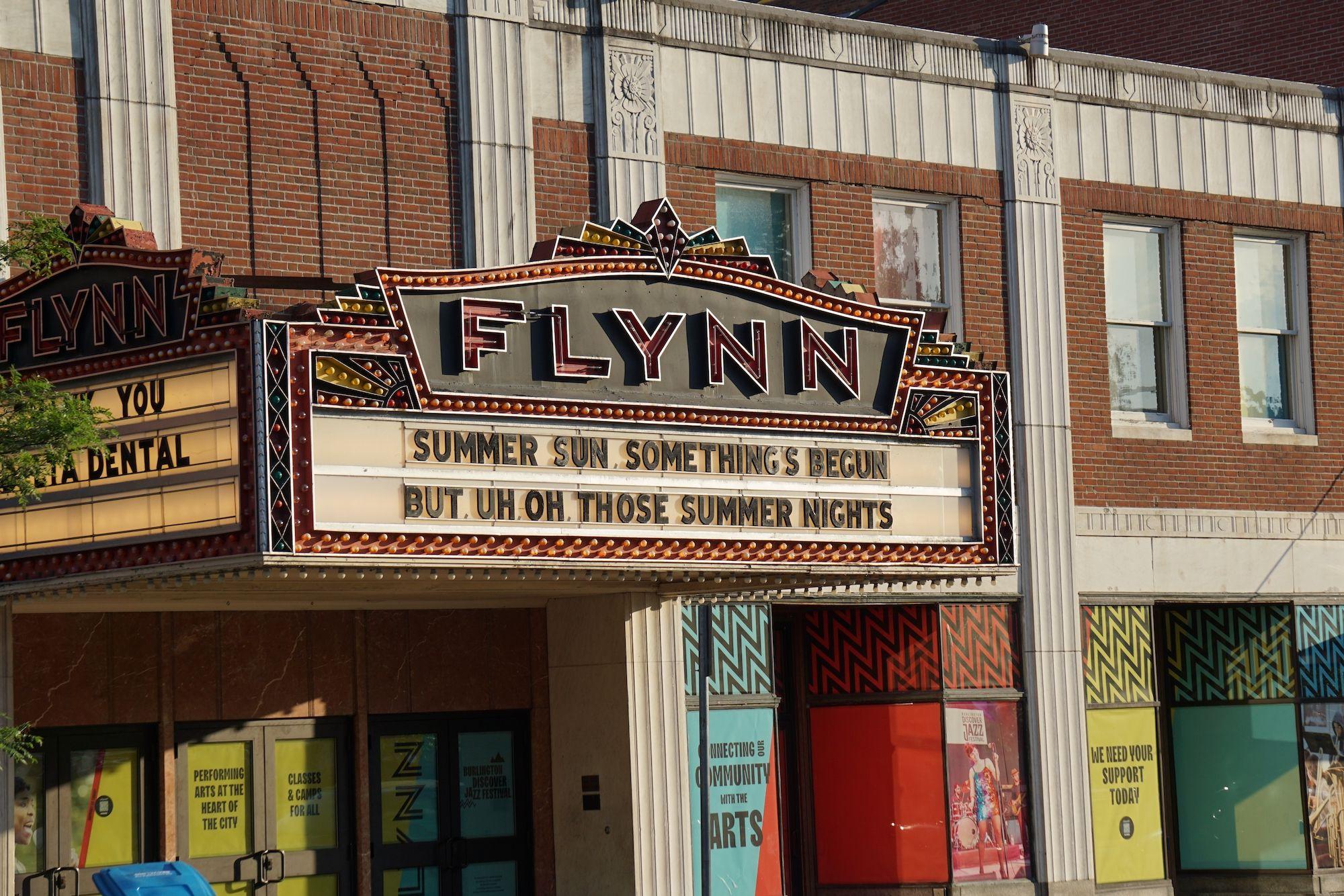 Flynn Theatre, Burlington, Vermont.