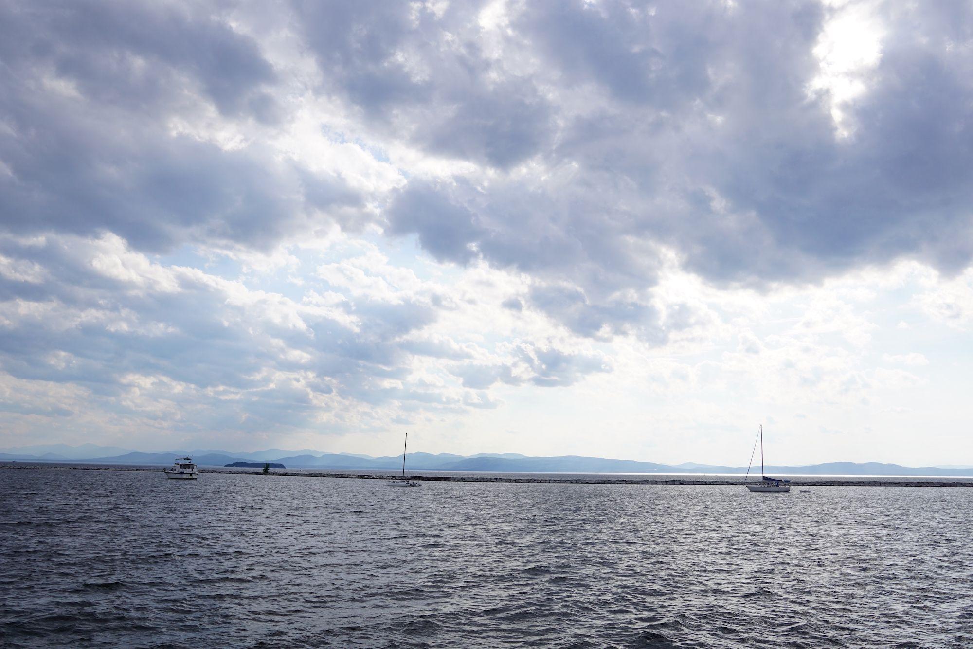 Lake Champlain boats, Burlington, Vermont.